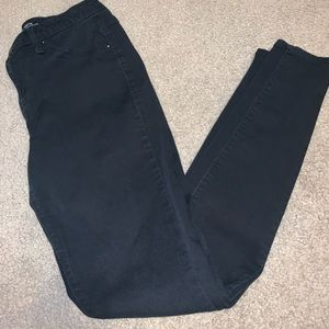Mossimo skinny jeans black size 6